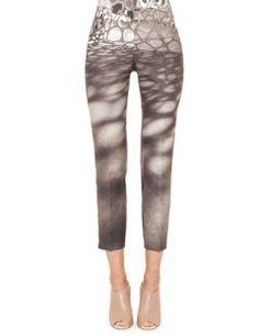 AKRIS Honeycomb Slim Stretch Ankle Pants