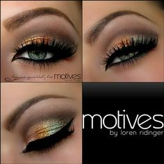 Silver and Gold eyeshadow