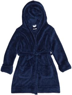 c05d70dcce Navy Fleece Hooded Robe - Kids Toddler Boy Outfits