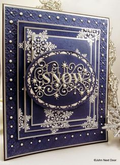 Creative Expressions Papercraft and Scrapbooking Products: Let it Snow, Let it Snow, Let it Snooooowwwwww......