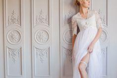 Hera wedding garter / blue