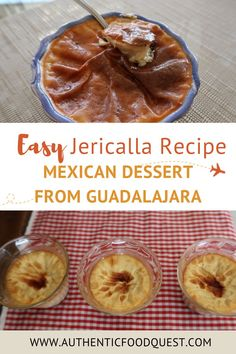 This jericalla recipe is an easy to make tasty Mexican dessert from Guadalajara. Learn how to make it, and post your photos after you've tried! | Authentic Food Quest