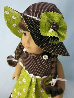 American Girl Clothing   Sundress and Hat in by SewMyGoodnessShop