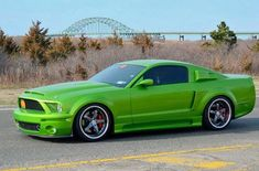 """Andy Helsinger's 2006 Ford Mustang GT aka """"The Green Monster"""" 2006 Mustang Gt, Ford Mustang Gt, Thunderbolt And Lightning, Las Vegas Motor Speedway, Carroll Shelby, American Racing, Green Monsters, Shelby Gt500, Car Show"""