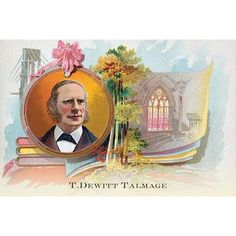 """Buyenlarge 'T. Dewitt Talmage' by Sweet Home Family Soap Painting Print Size: 24"""" H x 36"""" W"""