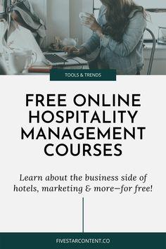 Revenue Management, Tourism Management, Online Business Opportunities, Business Ideas, Medical Billing And Coding, Social Media Training, Restaurant Marketing, Free Education, Online Courses