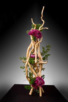 2018 Seminar Gallery – OFAD Ikebana Arrangements, Creative Flower Arrangements, Ikebana Flower Arrangement, Floral Arrangements, Art Floral, Deco Floral, Modern Floral Design, Floral Event Design, Hotel Flowers