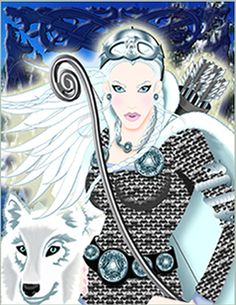 SciFi and Fantasy Art Skadi, the Norse Goddess of the Hunt and Scandinavian Winter by Agnes D. Mythology Books, Norse Mythology, Viking Religion, Winter Goddess, Norse Goddess, Norse Vikings, Asatru, Viking Warrior, Ancient Mysteries