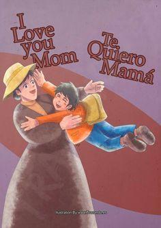 ilustración de feliz día de la madre.