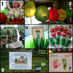Veggie Tales Birthday Party.  Great Idea.  Wish I thought of this when my kids were younger! #veggietales