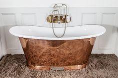 Royal Copper Bath with White Interior. | Chadder & Co.