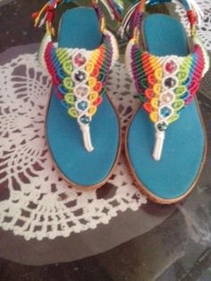 I would make something similar as barefoot sandals.