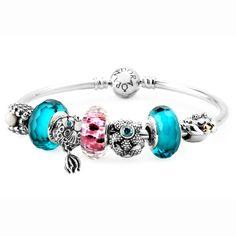 Pandora Tropics Bracelet - Perles style pandora, métalliques ou strass, bracelets : http://www.creactivites.com/172-bijoux-style-pandora