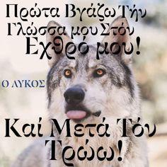Wolf Quotes, Greek Quotes, Enemies, Goals