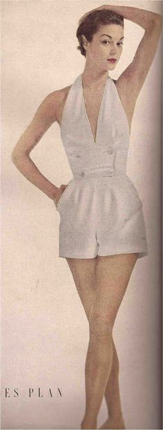 JEAN PATCHETT Carolyn Schnurer bathing suit Photo Constantin Joffe, Vogue 1950