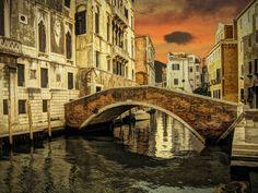 """Bridge and cloud"", Venice, Italy"