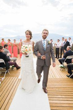 Spirit Ridge wedding. Dress by Stella York
