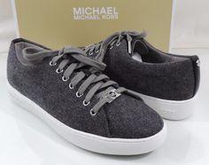 Women's Shoes MICHAEL Michael Kors KEATON LACE UP Sneakers Grey Flannel Size 7.5 #MichaelKors #Trainers