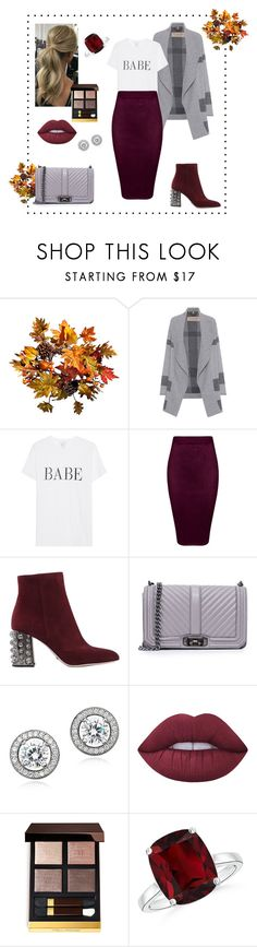 """""""Autumn 🍁 🍁 🍁"""" by alinakraynya ❤ liked on Polyvore featuring Improvements, Burberry, Sebastian Professional, Rebecca Minkoff, Crislu, Lime Crime and Tom Ford"""