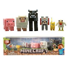 Minecraft Core Animal 3-Inch Action Figure 6-Pack, Not Mint