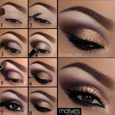 golden makeup tutorial