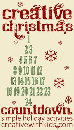 Virtual Advent Calendar - 24 days of holiday magic. Get one fun Christmas activity a day.