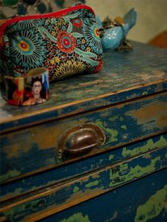Beautiful colors. #drawer #gypsy #boho #bohemian #Frida