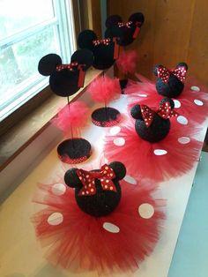 Conjunto de 8 negro brillantes Minnie por PartyStylingsofMandy