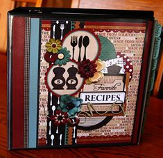 Recipe Binder. I'm going to make one of these for my 13 year old daughter so she has it when she gets older. We can sit together and pick out all the recipe she loves from my blog.