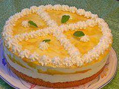 Käsesahnetorte mit Pfirsichen, ein raffiniertes Rezept aus der Kategorie Torten. Bewertungen: 63. Durchschnitt: Ø 4,4.