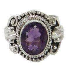 Améthyste pierres précieuses argent sterling 925 Mode femmes bague Bijoux cadeau pour elle SZ 6.25: Amazon.fr: Bijoux