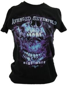 "Avenged Sevenfold A7X Womens T-Shirt - ""Nightmare"" Ghostly Skull Mouth Scream Image on Black (Small) IN MY PARENTS BASEMENT, http://www.amazon.com/dp/B007X6C0FM/ref=cm_sw_r_pi_dp_cNXdqb1X0D1DN"