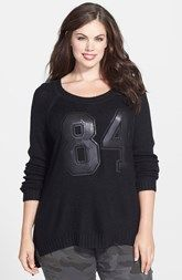 City Chic Sequin Number Sweater (Plus Size)