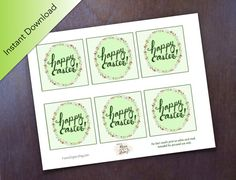 Digital download happy st patricks day gift tags printable digital download happy easter gift tags easter mini cards floral easter gift tags negle Choice Image