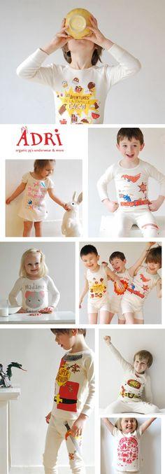 ADRI- organic cotton pj's & underwear for kids