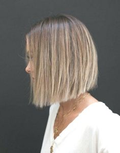 42 Trendiest Hair Color Ideas For Brunettes in 2019 - Hair Styles Bob Haircut For Fine Hair, Bob Hairstyles For Fine Hair, Hairstyles Haircuts, Haircut Bob, Blunt Haircut, Bob Haircuts, Balayage Brunette, Brunette Hair, Balayage Hair