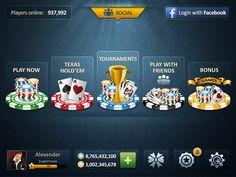 Poker Ui Blue