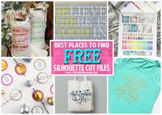 10+ Places to Get FREE Silhouette Cut Files