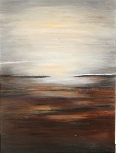 This painting has been sold but a new one can be created. It contains multiple earth tones. brown rust, cream , soft taupe black mild golden ocher. It measures 40 x 30 x 1.5 inches. It is an acrylic painting with a textured finish sealed with a semi gloss varnish. The edges are deep and