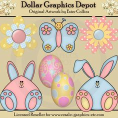 Bunny Fun - Clip Art - $1.00 : Dollar Graphics Depot, Your Dollar Graphic Store