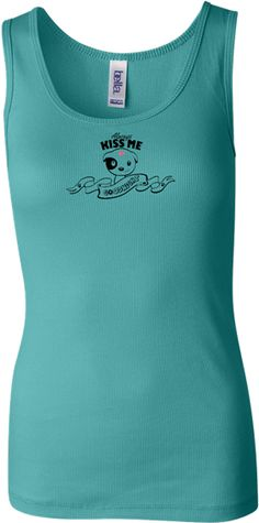 Always Kiss Me Goodnight Teal Tank Top | #tshirt #animalrescue #vivaanimalrescuenm