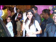 Shilpa Shetty at Aishwarya Rai's daughter Aaradhya's birthday party.