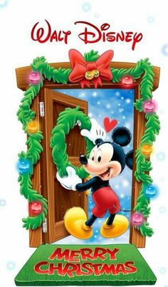 New Ideas Quotes Disney Mickey Mouse Disney Merry Christmas, Mickey Mouse Christmas, Christmas Cartoons, Mickey Mouse And Friends, Mickey Minnie Mouse, Disney Holidays, Xmas Holidays, Merry Xmas, Mickey Mouse Wallpaper