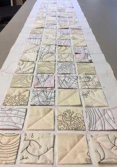 Still looking — paula kovarik Thread Art, Thread Painting, Silk Painting, Textiles Techniques, Quilting Rulers, Textile Fiber Art, Sewing Art, Fabric Manipulation, Free Motion Quilting