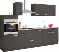 Küchen Küchenzeile ohne E-Geräte »Basel« grau, Soft-Close-Funktion, yourhome Jetzt bestellen unter: https://moebel.ladendirekt.de/kueche-und-esszimmer/kuechen/kuechenzeilen/?uid=c0a2a549-44d5-5542-b6e3-71199e3ae542&utm_source=pinterest&utm_medium=pin&utm_campaign=boards #kueche #kuechen #kuechenzeilen #esszimmer
