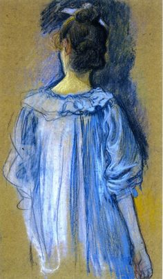 The Athenaeum - Woman in Blue seen from Behind, 1897 (Theo van Rysselberghe - )