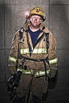 Firefighter Photography, Smoke On The Water, Firefighter Pictures, Environmental Portraits, Business Portrait, Fire Apparatus, Men In Uniform, Firefighting, Vogue