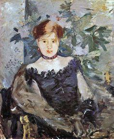Berthe Morisot 1878 Le corsage noir [1878] The black bodice or corset [1878] Dublin National Gallery of Ireland