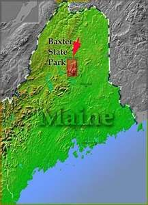 maps of Baxter State Park / Katahdin, Maine, including Baxter ...