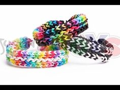 Reversible Flat Mid Stagger Bracelet - Rainbow Loom and Monster Tail Tutorial - YouTube